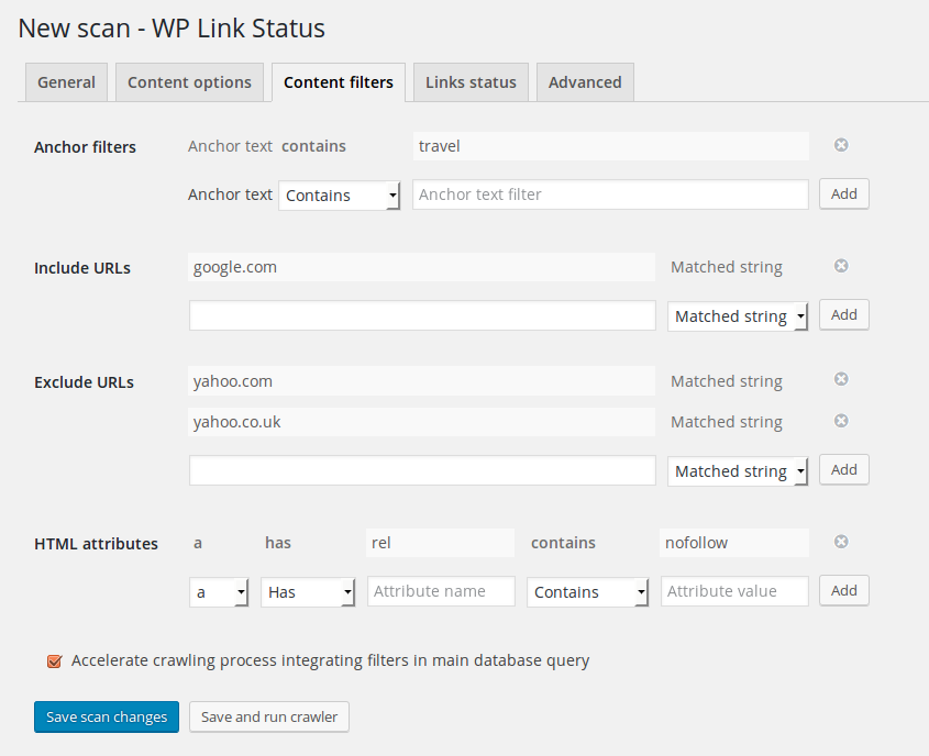 wp-link-status screenshot 3