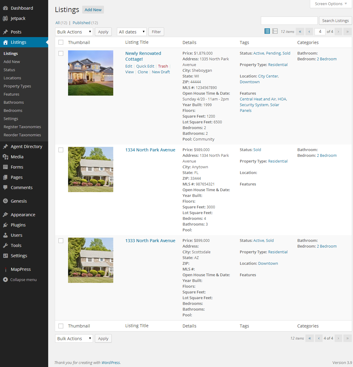 wp-listings screenshot 1