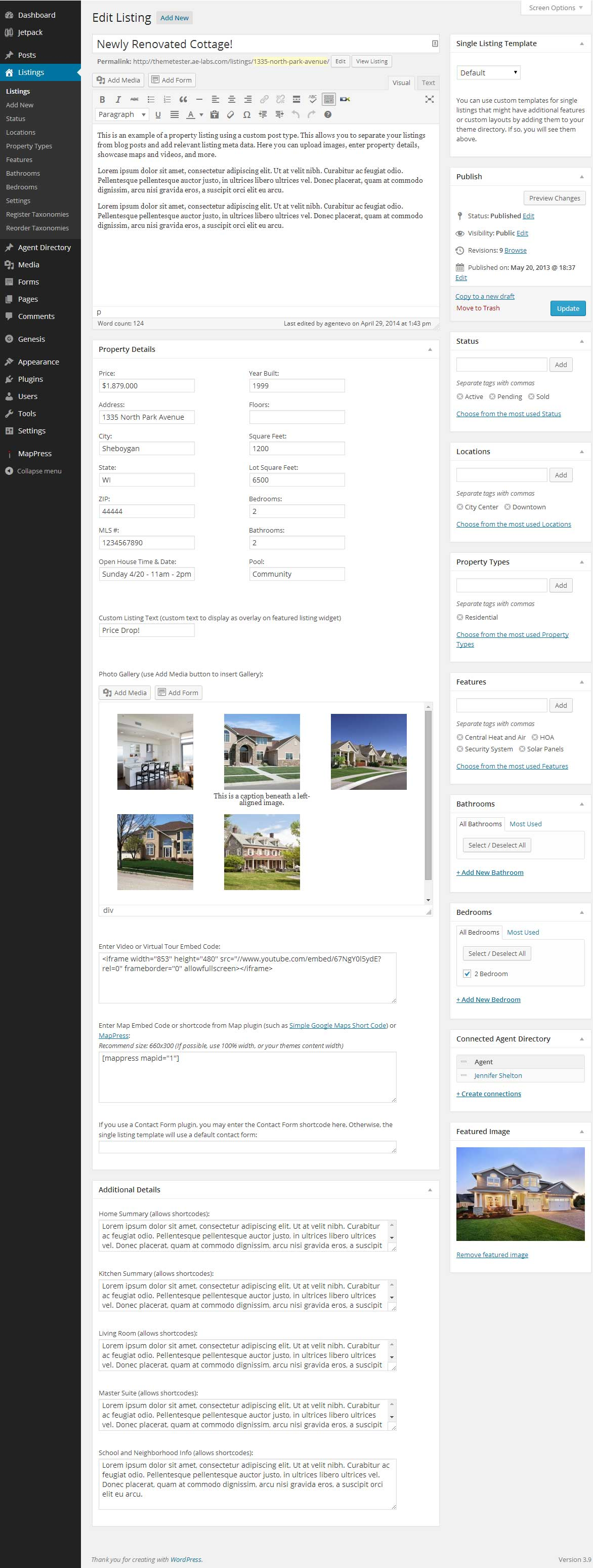 wp-listings screenshot 2