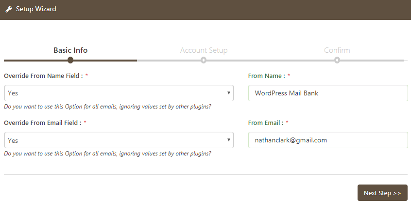 wp-mail-bank screenshot 1