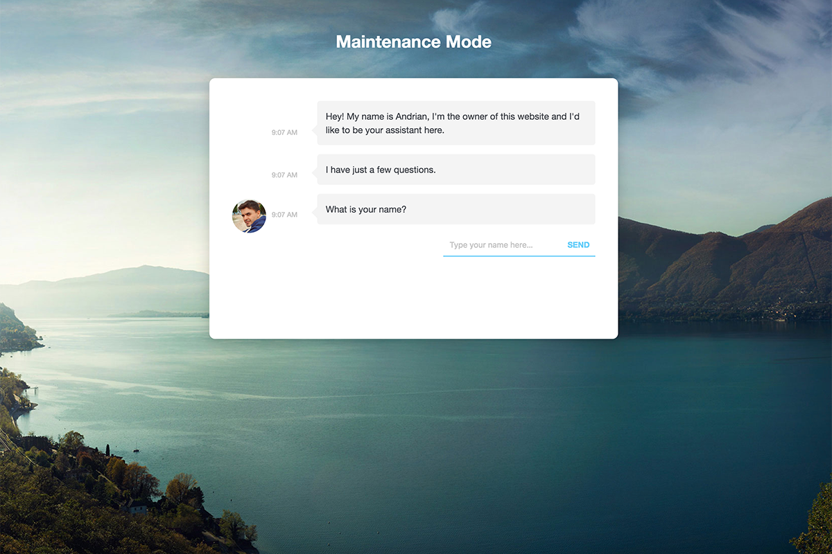 wp-maintenance-mode screenshot 3