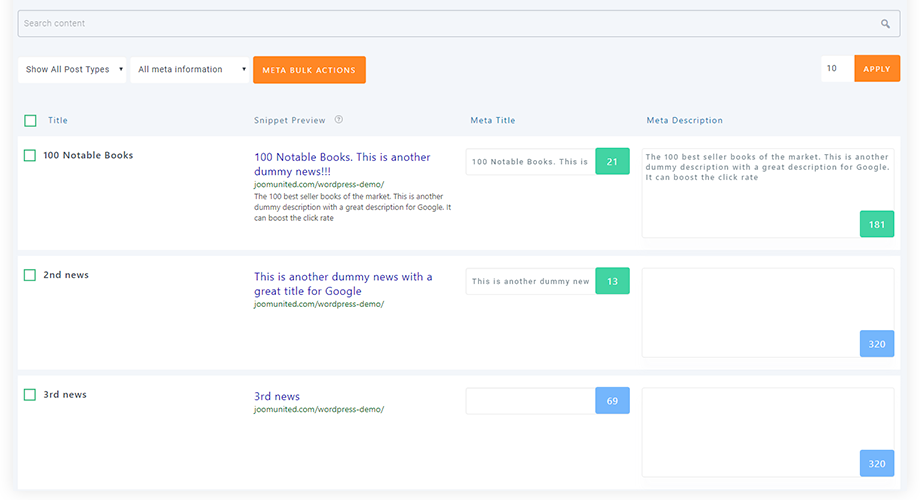 wp-meta-seo screenshot 3