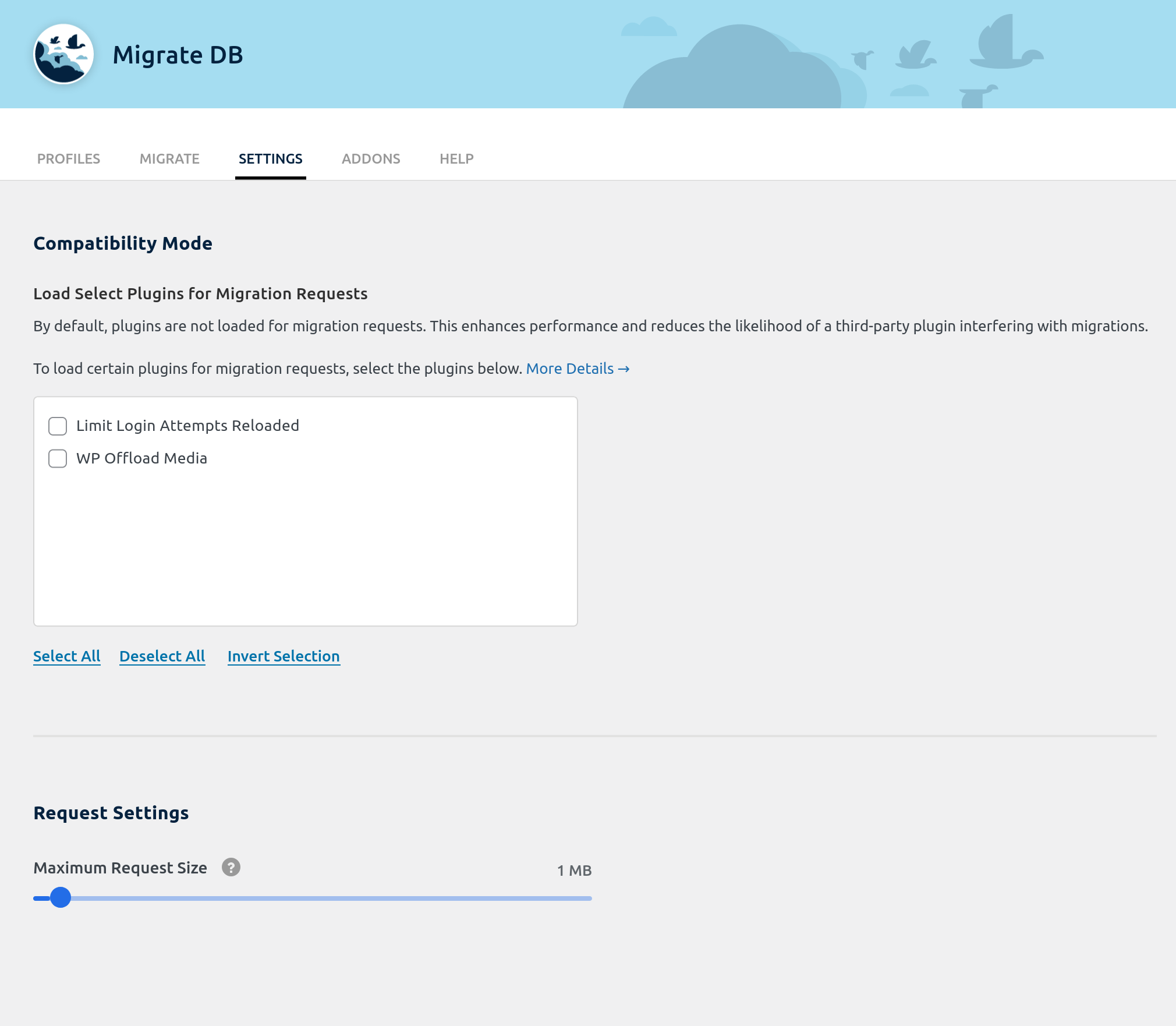 wp-migrate-db screenshot 3