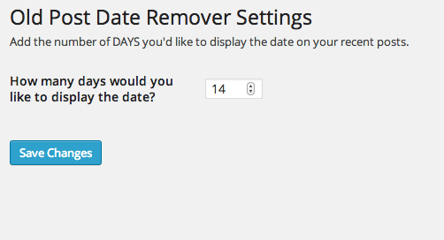 wp-old-post-date-remover screenshot 3