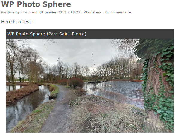 wp-photo-sphere screenshot 3