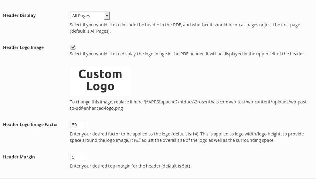 wp-post-to-pdf-enhanced screenshot 5