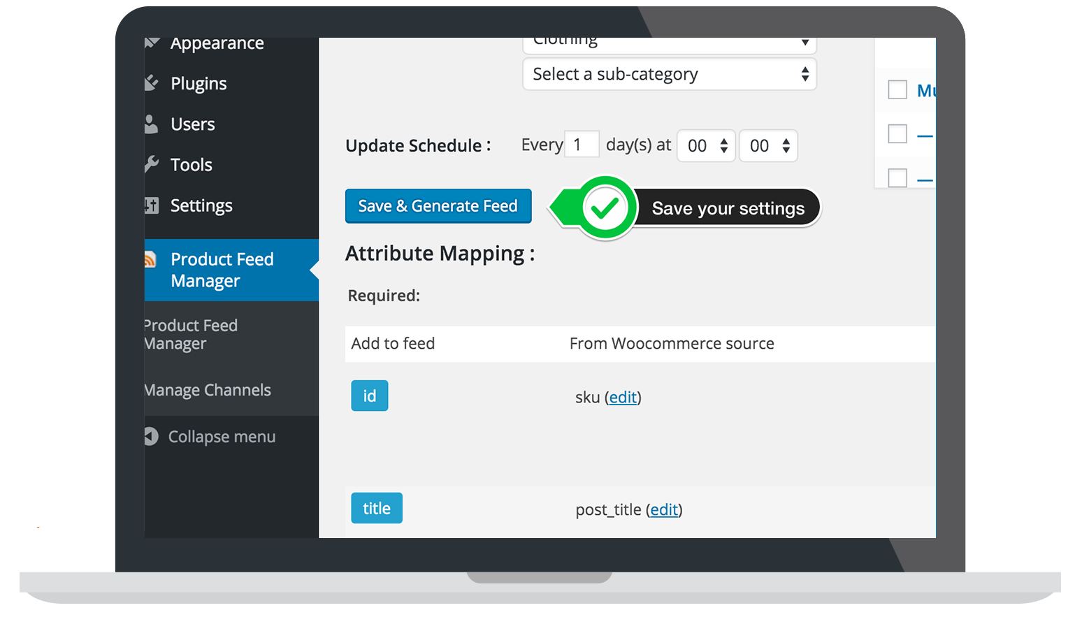 wp-product-feed-manager screenshot 5