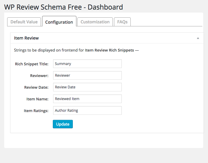 wp-review-schema screenshot 2