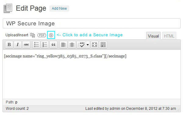 wp-secure-image screenshot 1