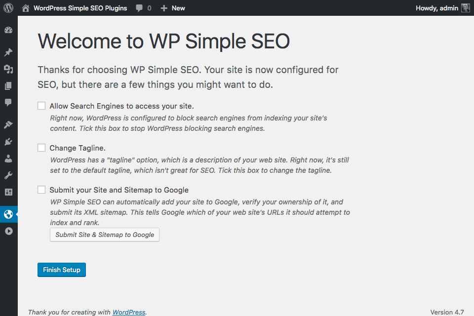 wp-simple-seo screenshot 1