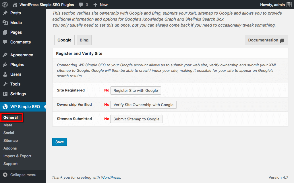wp-simple-seo screenshot 2