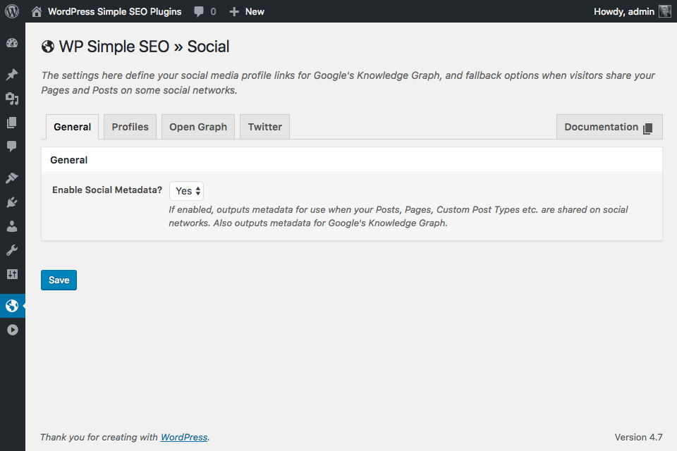 wp-simple-seo screenshot 4