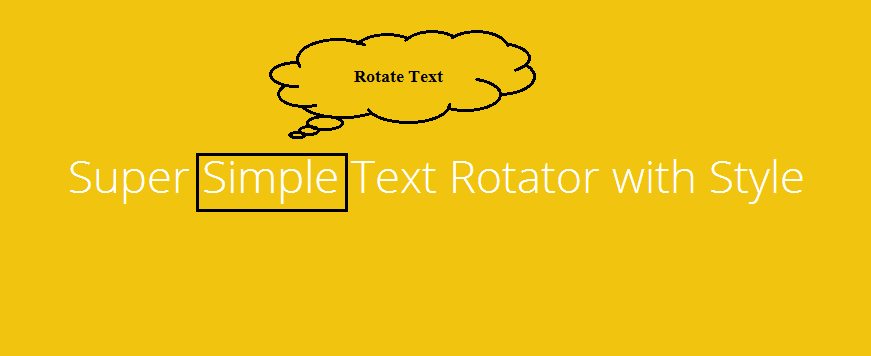 wp-simple-text-rotator screenshot 2