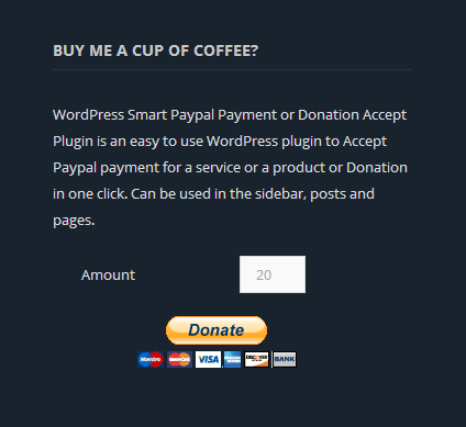 wp-smart-paypal-payment-or-donation-accept screenshot 2