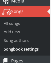 wp-songbook screenshot 1