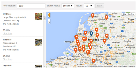 wp-store-locator screenshot 1