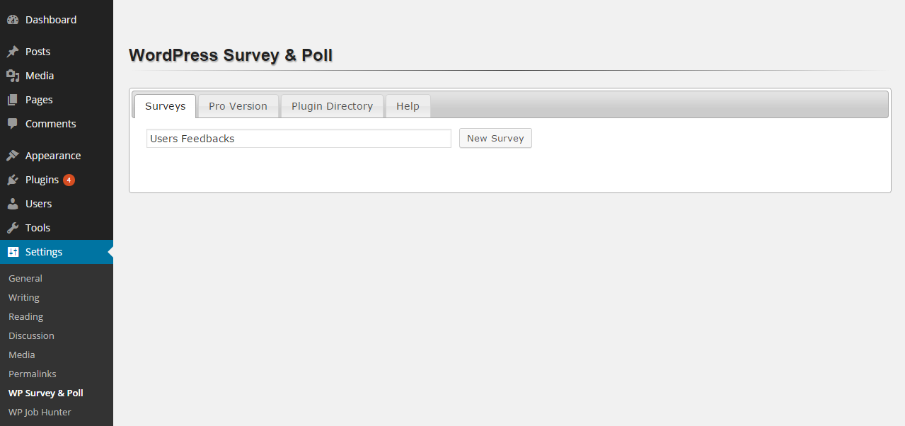 wp-survey-and-poll screenshot 1