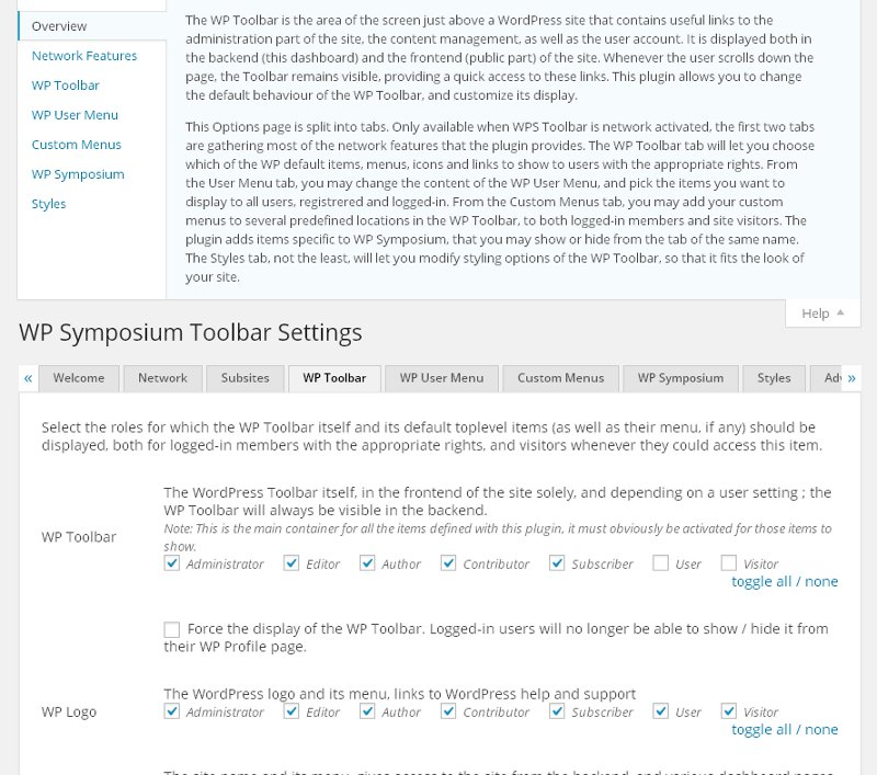 wp-symposium-toolbar screenshot 3