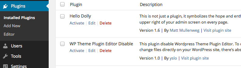 wp-theme-plugin-editor-disable screenshot 2