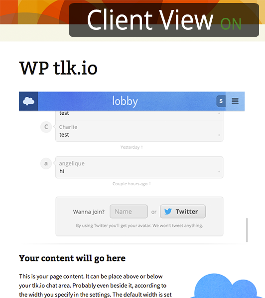 wp-tlkio screenshot 3
