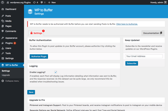 wp-to-buffer screenshot 1