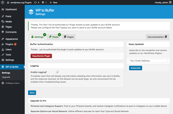 wp-to-buffer screenshot 2