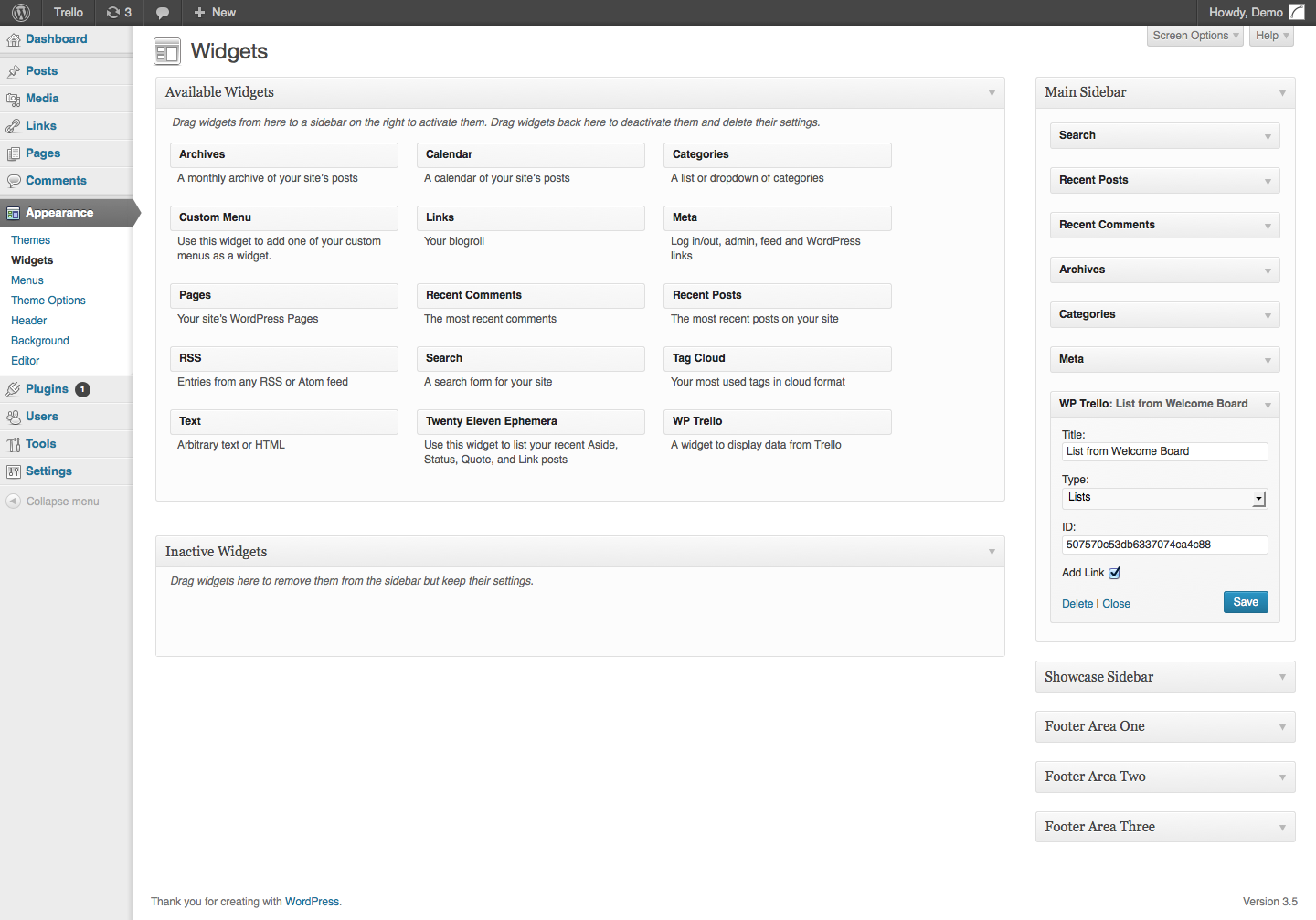 wp-trello screenshot 3