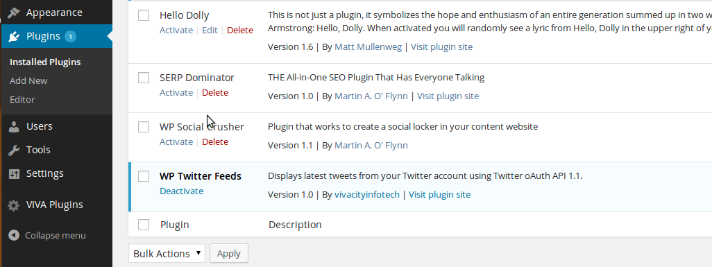 wp-twitter-feeds screenshot 1