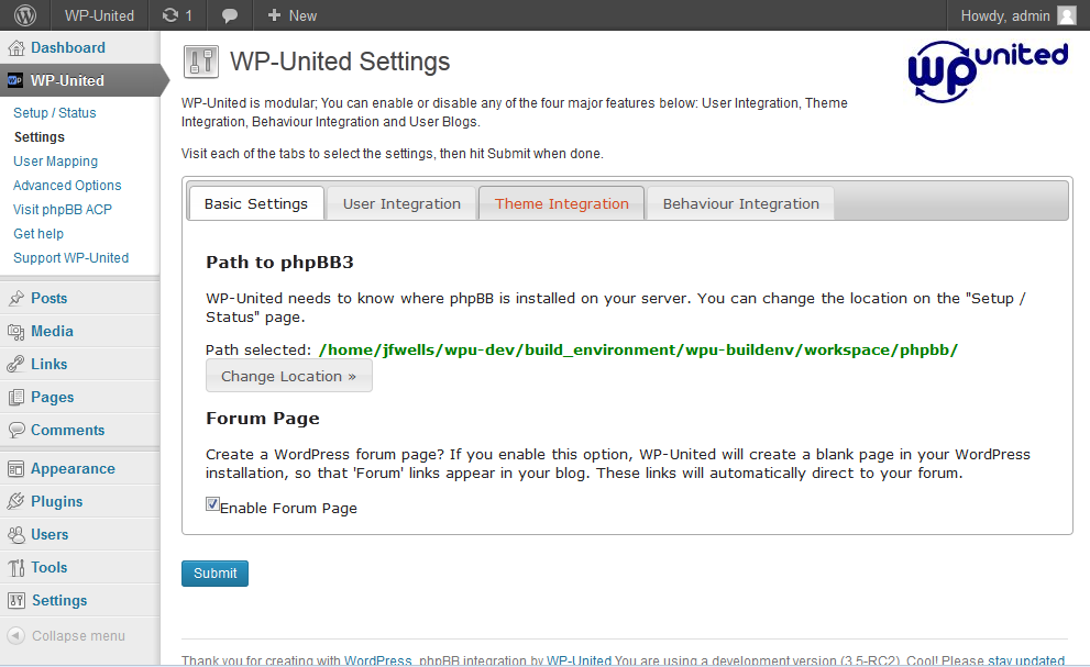 wp-united screenshot 2