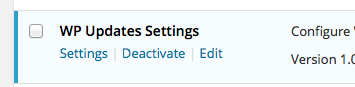 wp-updates-settings screenshot 2