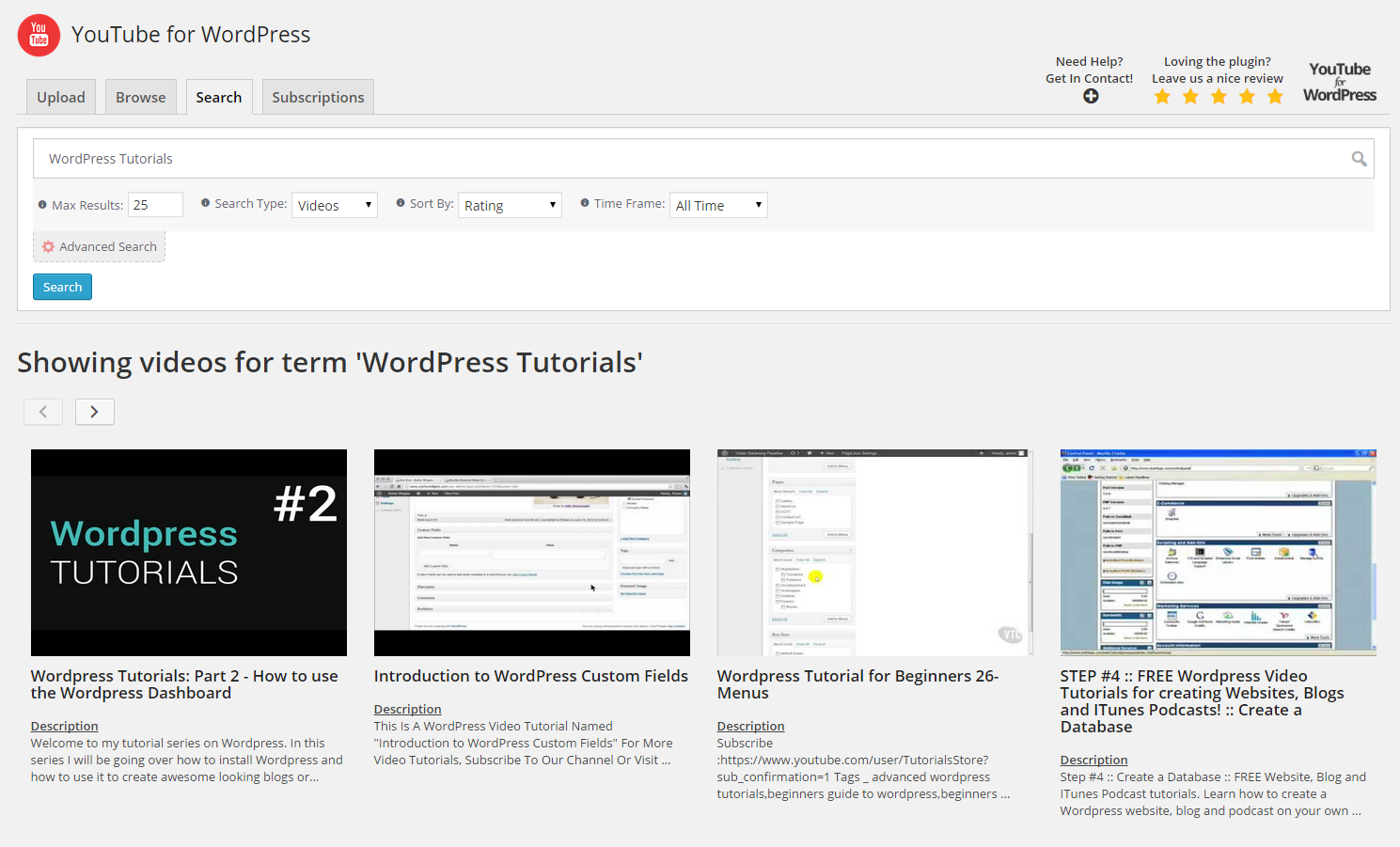 wp2yt-uploader screenshot 2