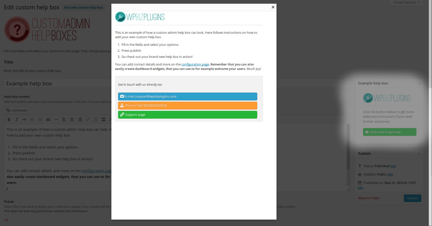 wpbizplugins-custom-admin-help-boxes screenshot 4