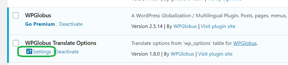 wpglobus-translate-options screenshot 1