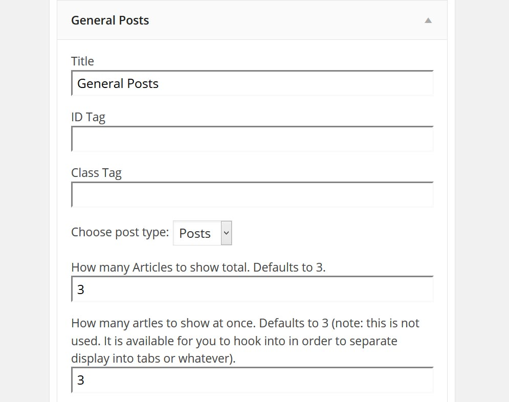 wpr-general-posts-widget screenshot 1
