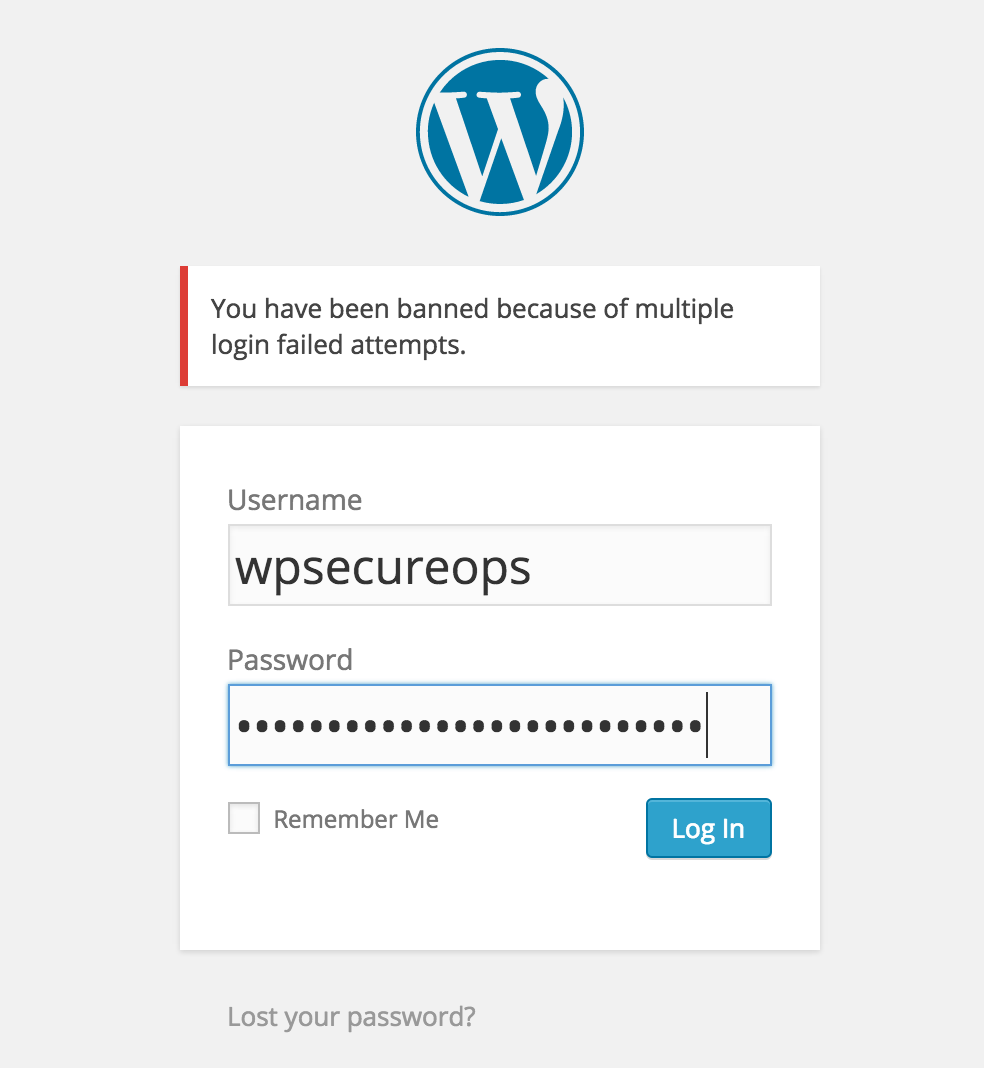 wpsecureops-bruteforce-protect screenshot 1