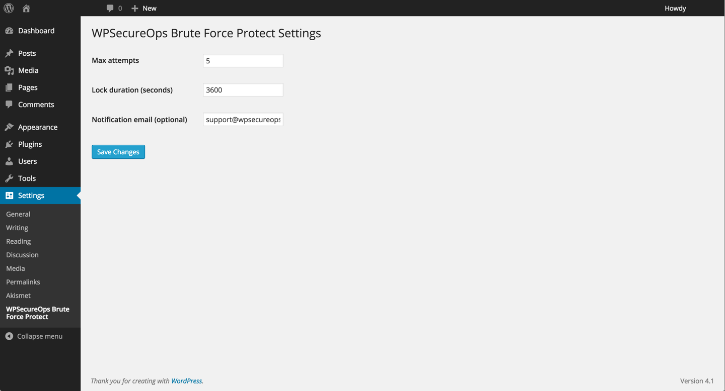 wpsecureops-bruteforce-protect screenshot 2