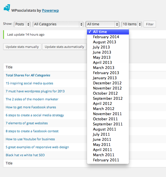 wpsocialstats screenshot 5