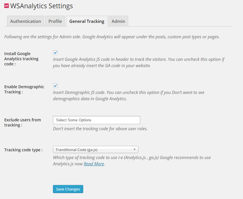 wsanalytics-google-analytics-and-dashboards screenshot 1