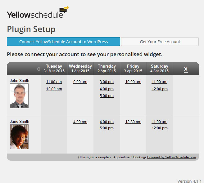 yellow-schedule screenshot 1