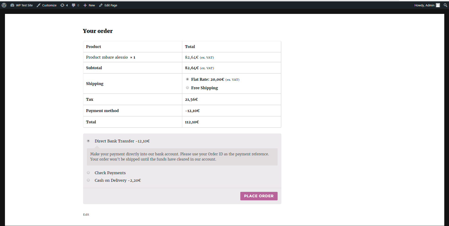 yith-dynamic-pricing-per-payment-method-for-woocommerce screenshot 3