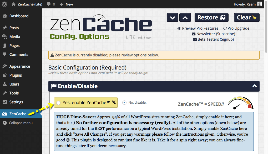 zencache screenshot 1