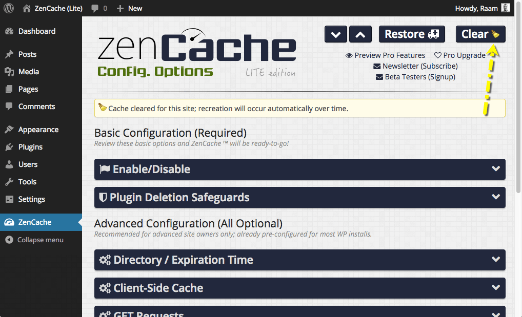 zencache screenshot 3