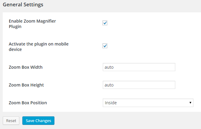 zoom-magnifier-for-woocommerce screenshot 1