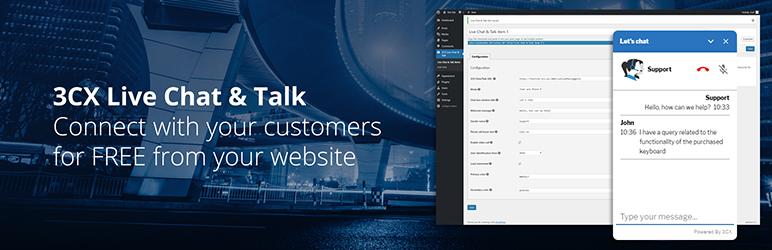 3CX Live Chat and Talk – WordPress plugin | WordPress org