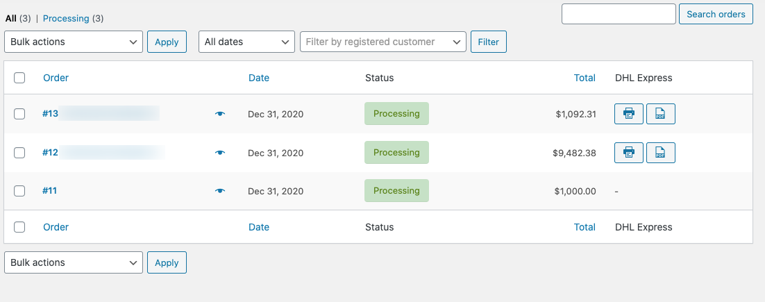 Output - My Account Page Shipping Section.