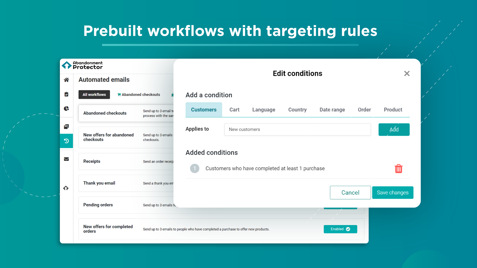 Workflows with targeting rules to create email marketing