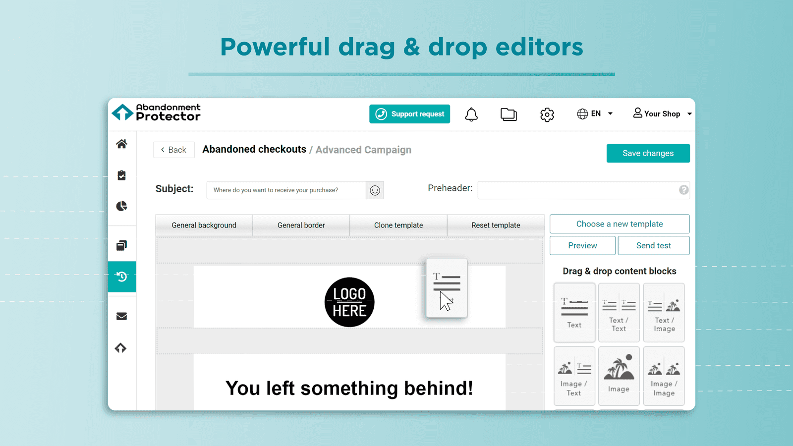 Popup & Email editor lets you customize your templates easier