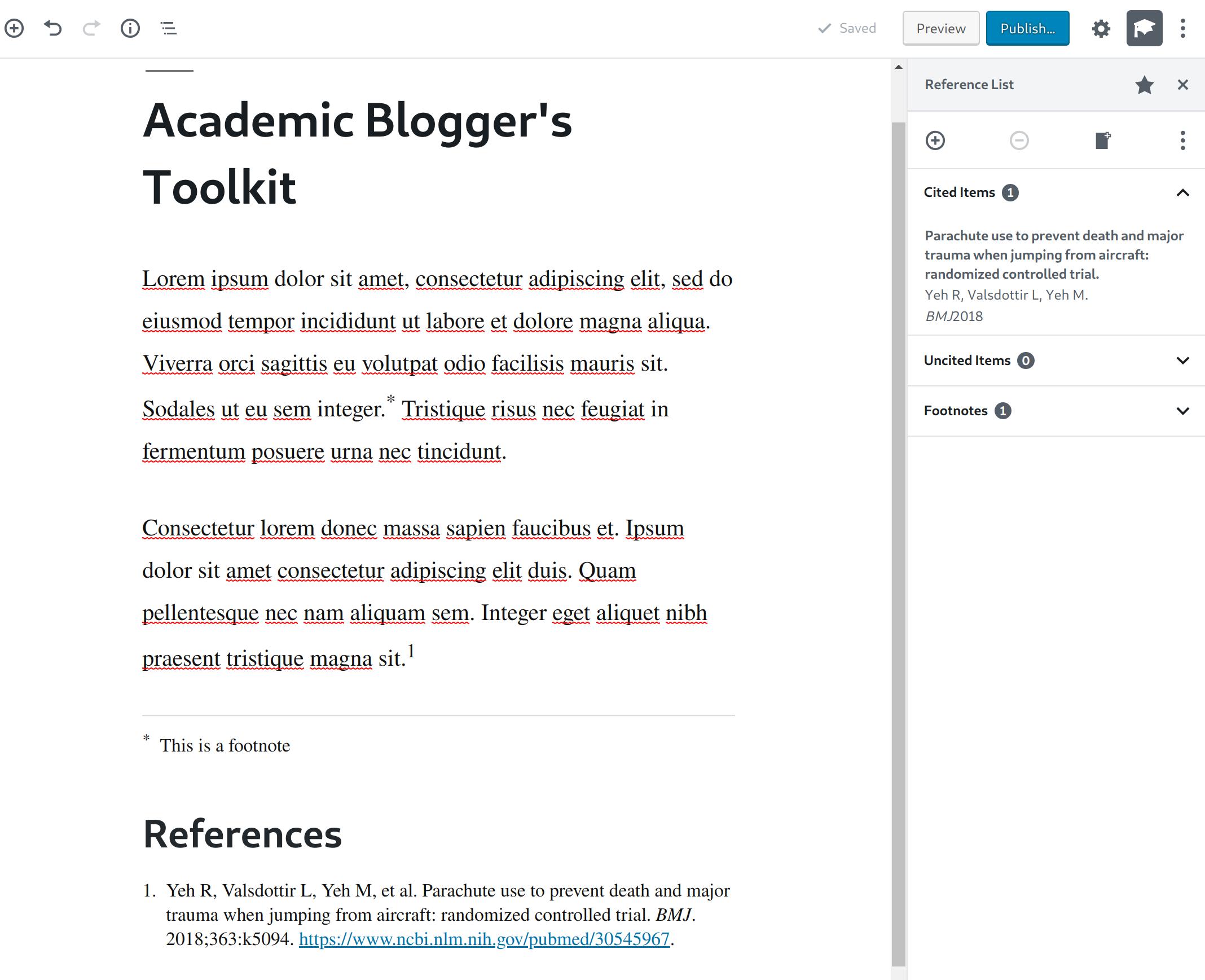 Academic Blogger's Toolkit est le meilleur plugin WordPress pour faire de la bibliographie sous WordPress