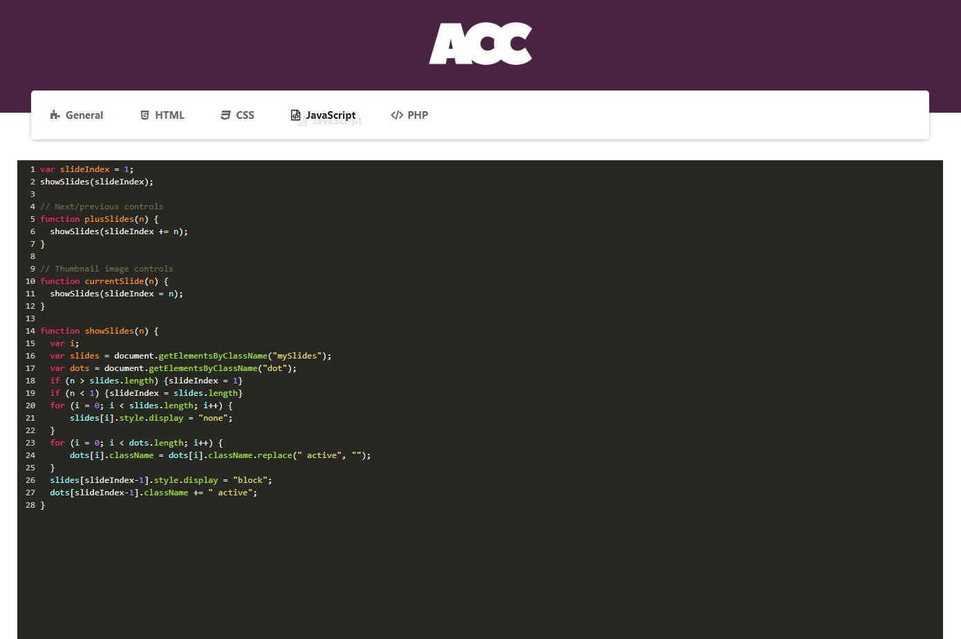 Advanced Custom Code - JavaScript.