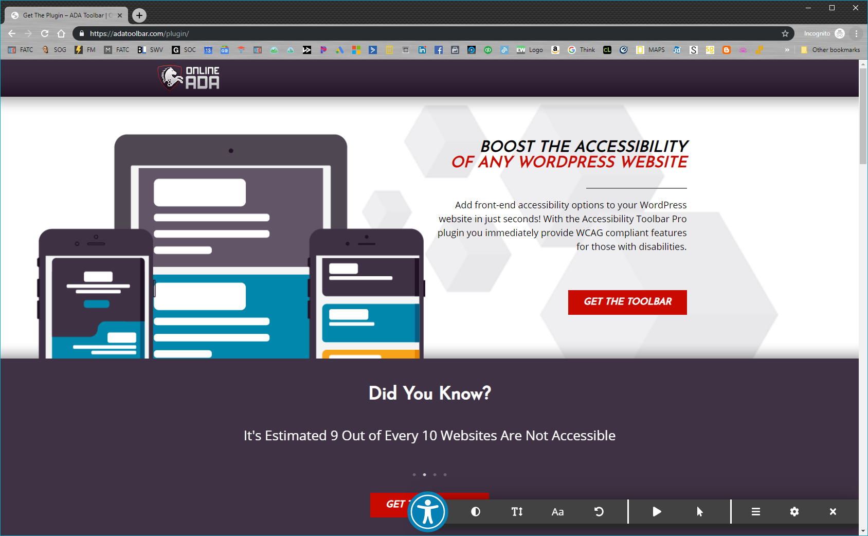 The Accessibility Toolbar by Online ADA